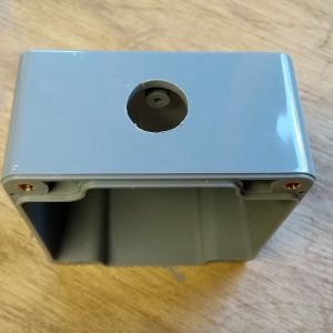 IP65 ABS Enclosure 82x80x55, coax chassis hole