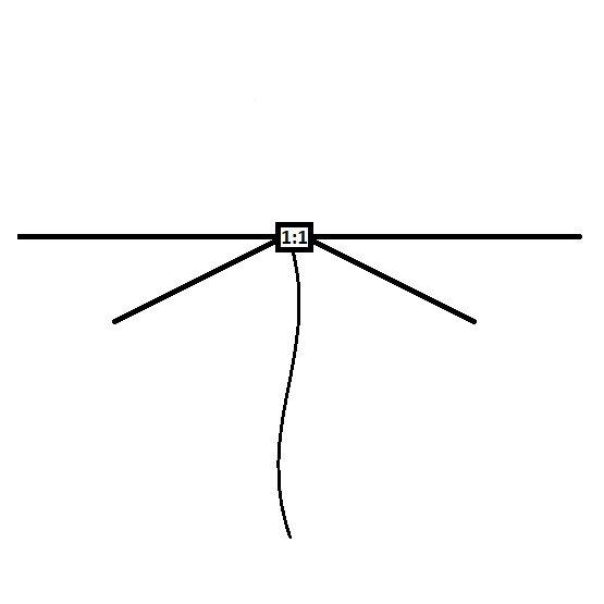 "10/20 Meter band ""cat whisker"" dipole antenna"